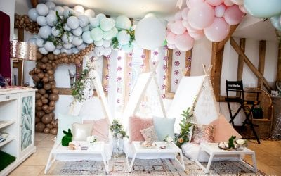 Tepee sleepover – a magical styled birthday party with talented Essex & London based event specialists